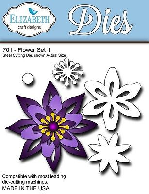 Elizabeth Craft Designs - Flower Set 1 - ECDD701