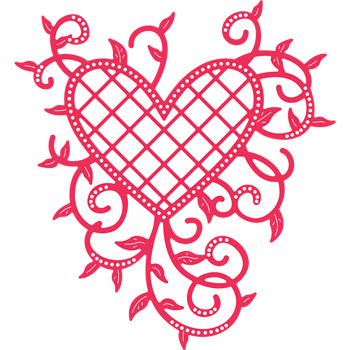 Cheery Lynn Lattice Heart & Vines - B368