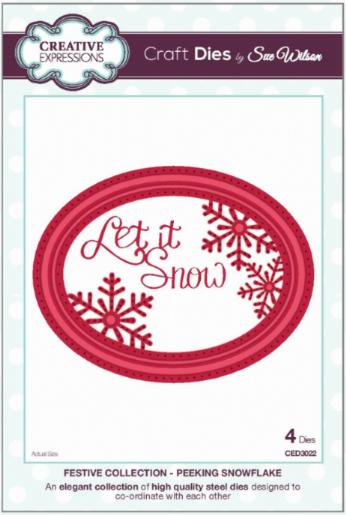 FESTIVE COLLECTION - Peeking Snowflake CED3022 by Sue Wilson