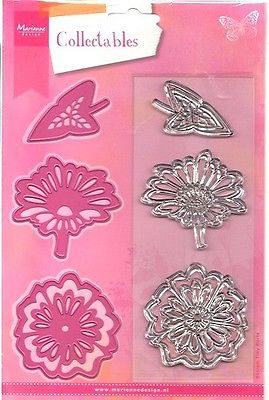 Marianne Creatables cut & emboss stamp set - Flowers & Leaf COL1304