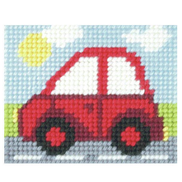 Orchidea Embroidery Kit - Little Red Car - Needlecraft Kits