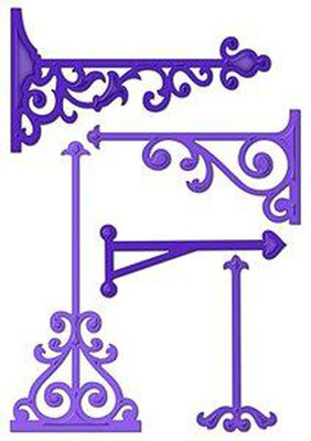 Spellbinders S5-032 - Nestabilities Majestic Elements  Elegant Posts